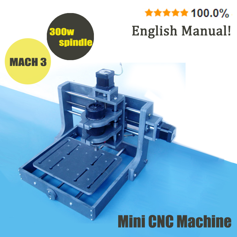 Mini cnc milling machine Mach 3 DIY pcb milling machine 2020B for wood engraving 300w spindle motor ER11 cnc wood lathe router free shipping 500w er11 collet 52mm diameter dc motor 0 100v cnc carving milling air cold spindle motor for pcb milling machine