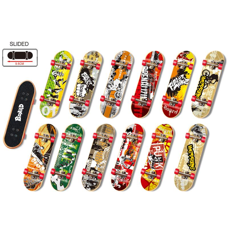 2pcs/set Mini Finger Skating Board Table Game Toy Alloy Stent Bearing Wheel Fingerboard Skateboard Kids Novelty Toy Gifts