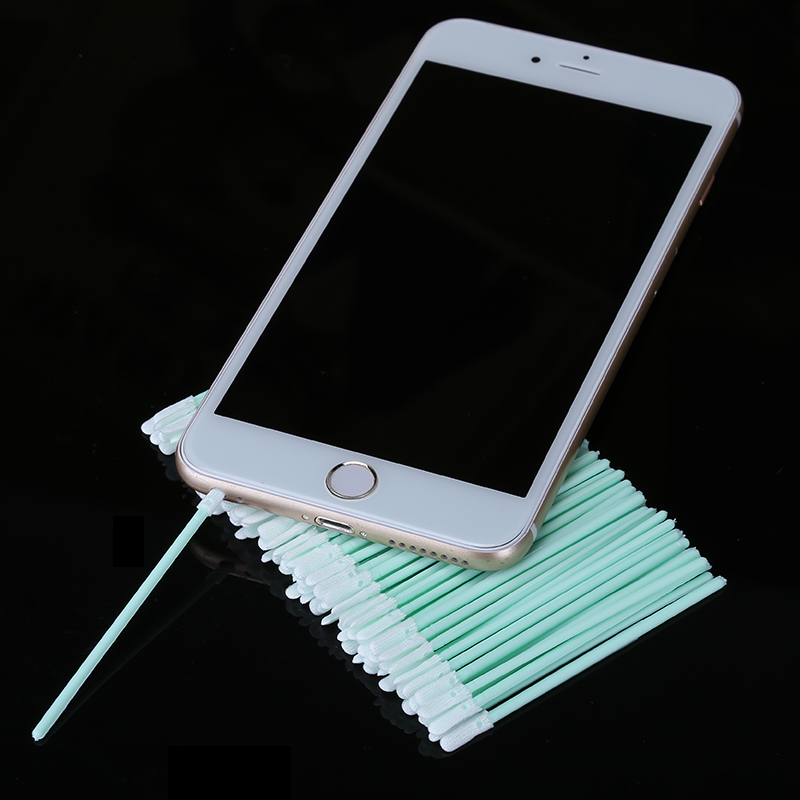 100pcs/lot Smartphone Earphone Hole Charge Port Cleaning Cloth Stick for Mobile Phone Repair Tools smartphone