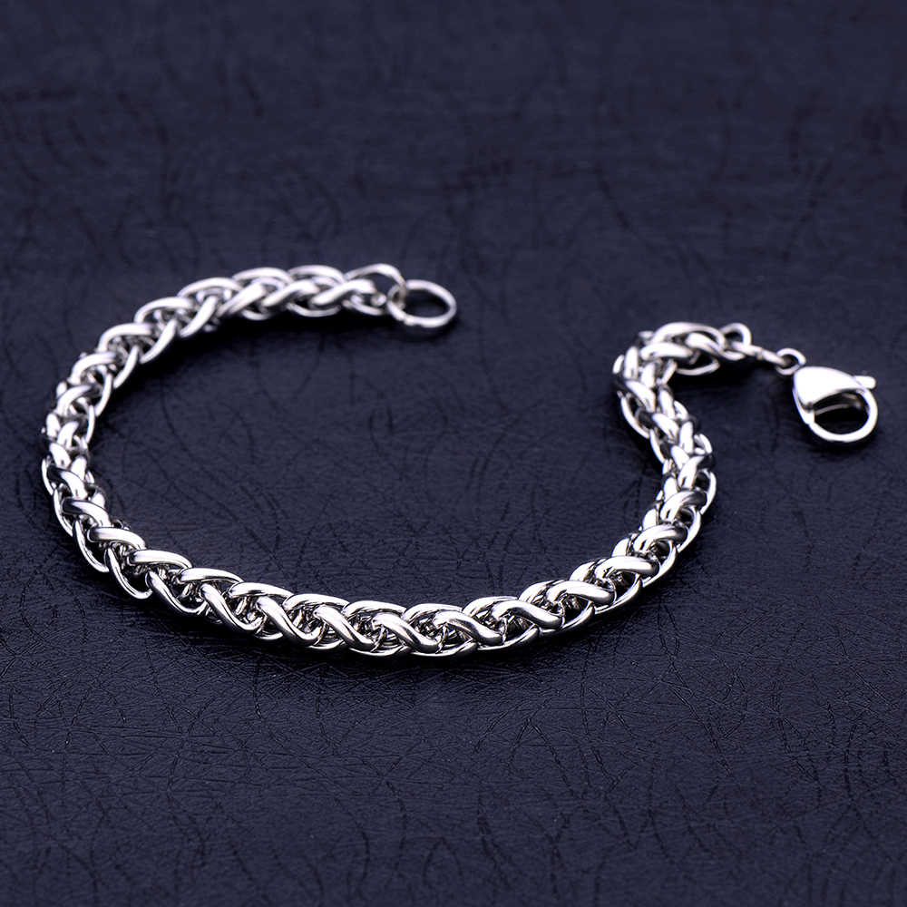 Low price stainless steel 4MM 5MM 6MM keel chain bracelet Fashion unisex jewelry Length 20CM Christmas gift pulseras