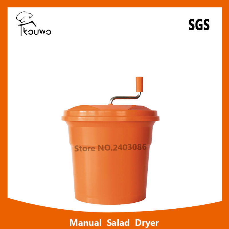 High quality manual press orange colour 12 liter food machine Plastic PP fruit Vegetable Salad Spinner and dryer for sale automatic electric fruit salad slicers cutt shredder machine vegetable cutter fruit onion slicer shredder high quality
