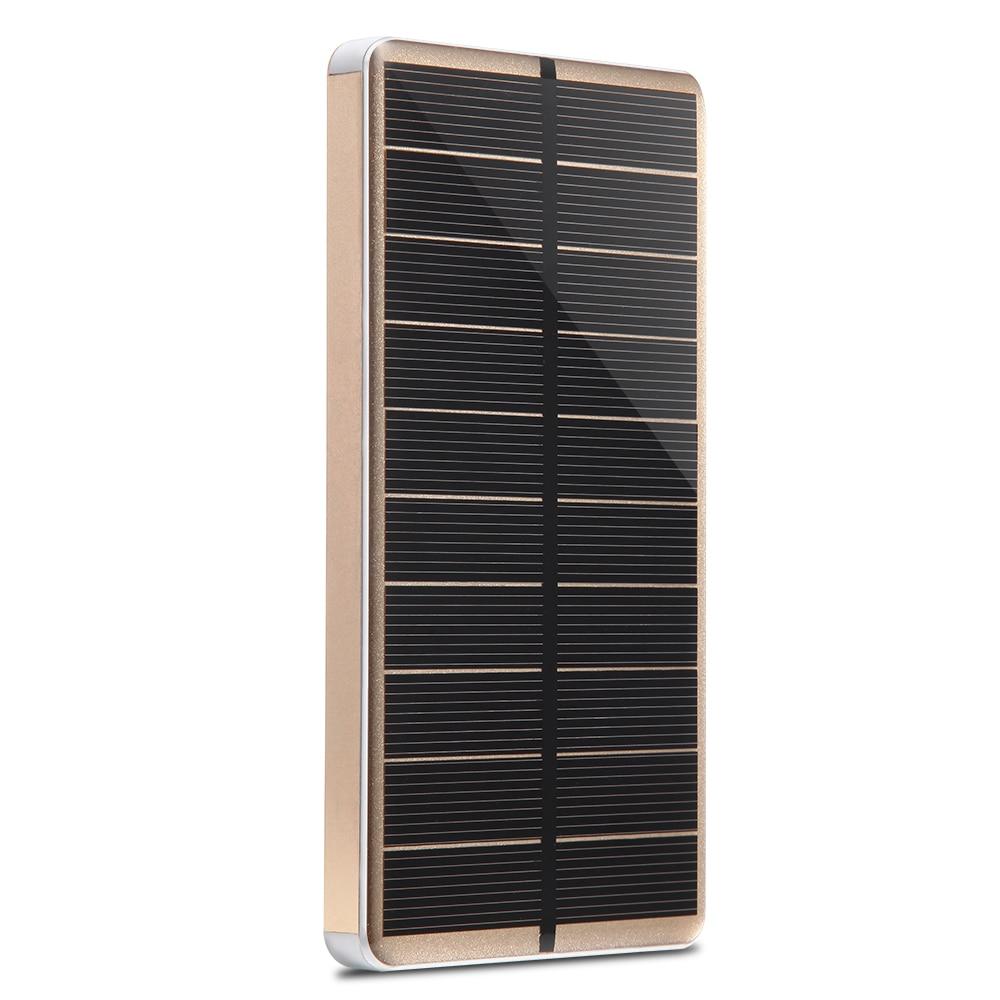 PowerGreen Solaire Chargeur de Téléphone portable 10000 mAh Super Slim En Alliage D'aluminium Solaire Power Bank Mini Panneau Solaire