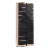 PowerGreen Solar Cell Phone Charger 10000mAh Super Slim Aluminum Alloy Solar Power Bank Mini Solar Panel
