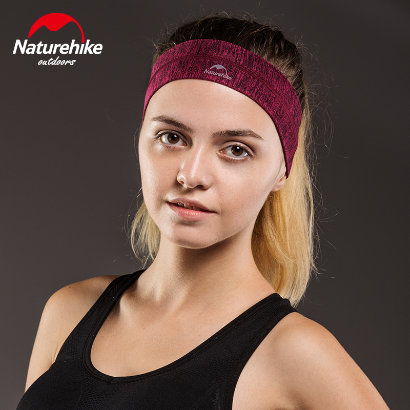 Naturehike 1 Pcs Sport Elastics Sweatband Absorbent Yoga Hairband Running Outdoor Fitness Cotton Headband Anti Sweat Hair Band in Scarves from Sports Entertainment