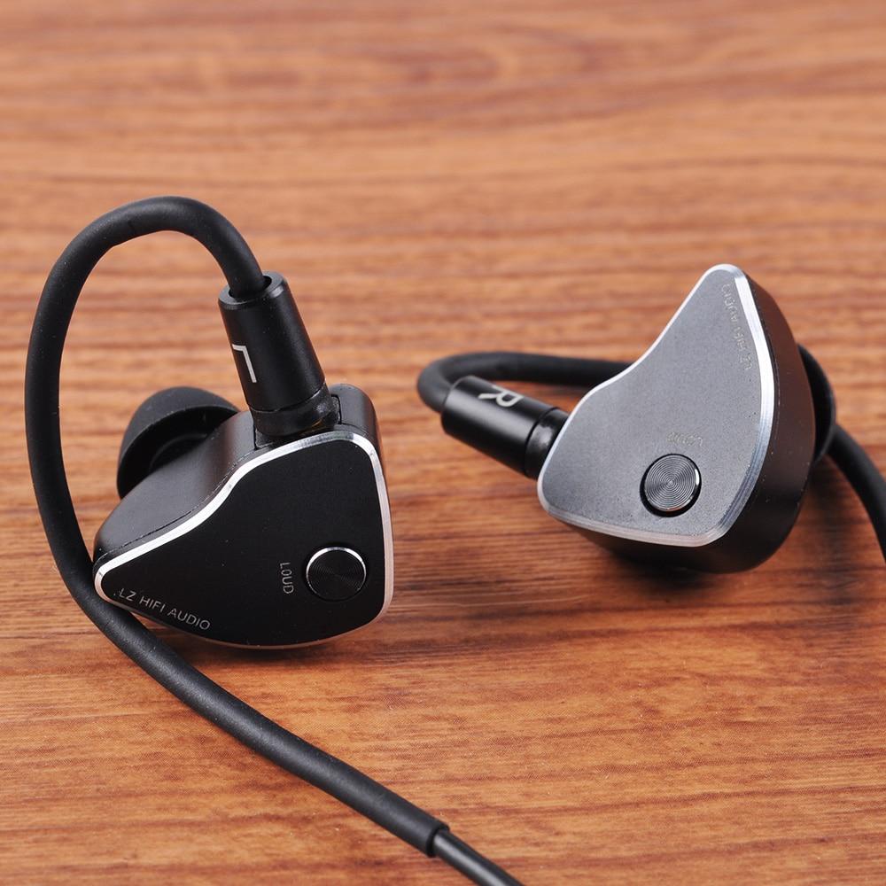 LZ A6 Dans L'écouteur D'oreille 1DD + 4BA + 1 Piézoélectrique Céramique Lecteur Hybride 6 Unités HIFI IEM Intra-auriculaires Remplaçable buse MMCX Amovible