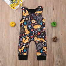 VTOM Baby Infant  Rompers Boys Girls Sleeveless Prints Cartoon Jumpsuit Toddler Clothes baby