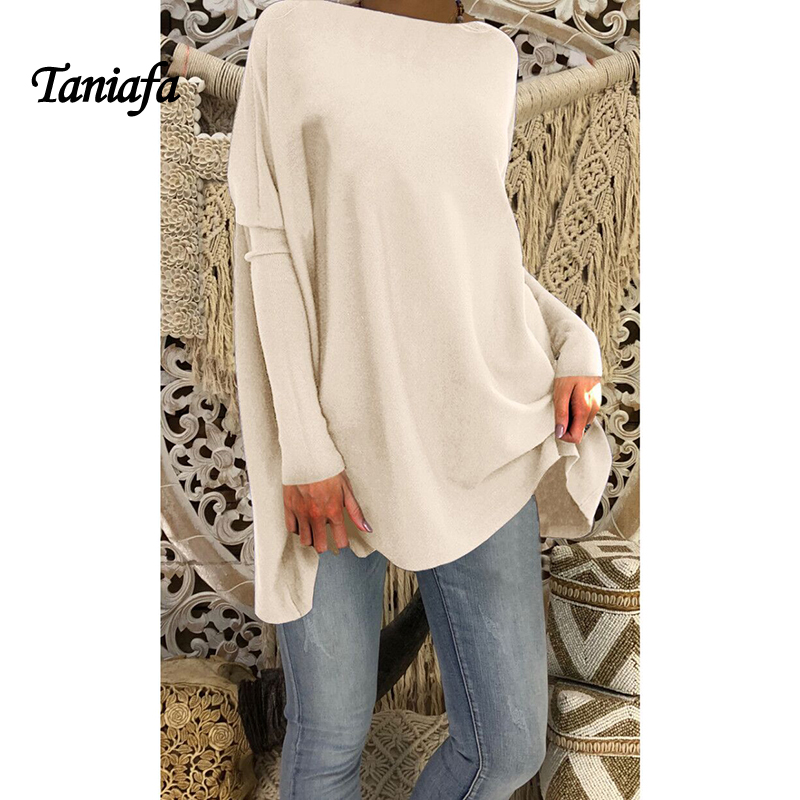 Fashion Women Autumn and Winter Long Sleeve Warm Knit Female Pullover Sweater Fluff