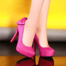 ปั๊มรองเท้าผู้หญิงกำมะหยี่ใหม่2016ส้นสูง12เซนติเมตรแพลตฟอร์ม2.5เซนติเมตรส้นเท้าบางรองเท้าผู้หญิงกับรองเท้าส้นหลาขนาดเล็กขนาดEUR 33-40