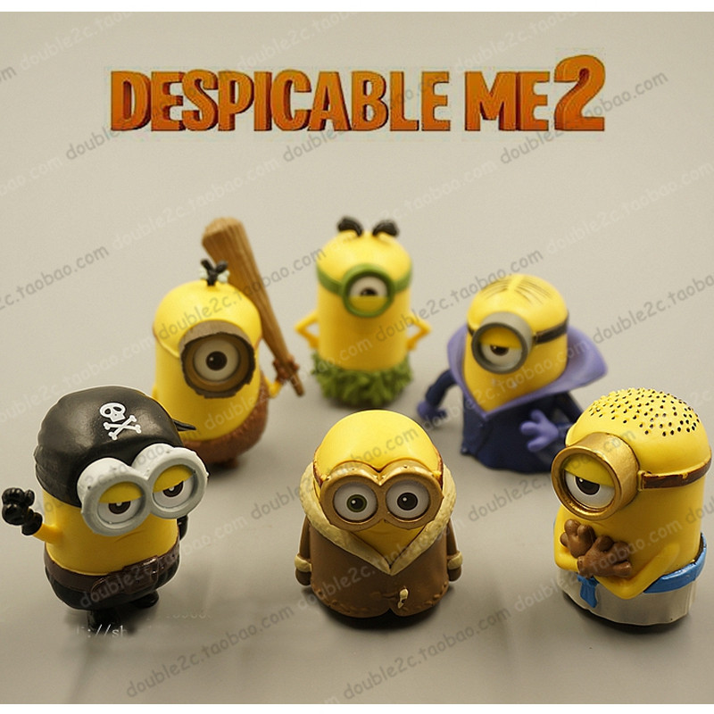 Magnificent Minion Cake Topper 6Pcs 5Cm Toy Minion 3D Minion Birthday Supplies Personalised Birthday Cards Cominlily Jamesorg