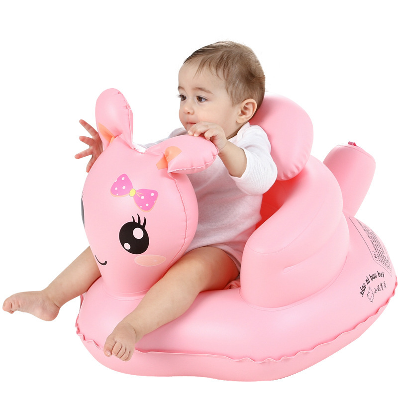 Kids Baby Inflatable Chair Sofa Bath Seat Dining Pushchair PVC Infant toy