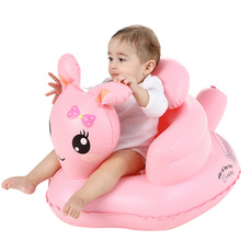 цена на Girls Baby Inflatable Chair PVC Kids Seat Sofa Pink Bath Seats Dining Pushchair Infant Portable Play Game Mat Sofa Learn Stool