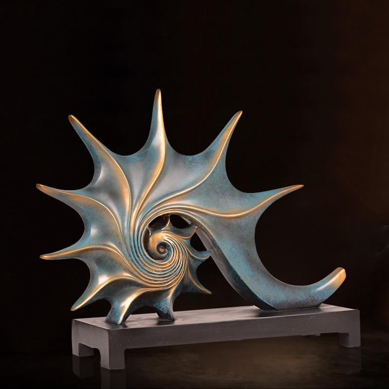 European Retro Creative Conch Ornaments Home Accessories Modern