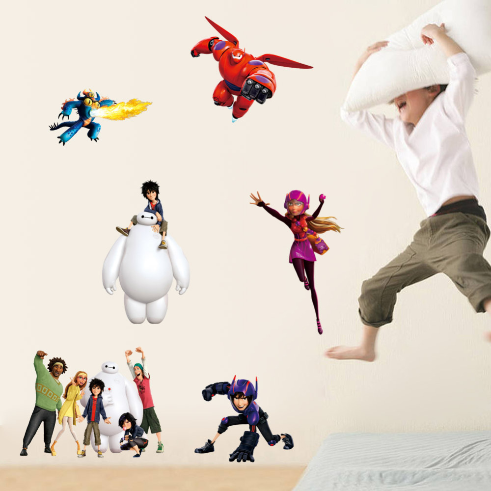 Aliexpress.com : Buy Hot Sale Cartoon Baymax Big Hero 6 Cartoon Wall Sticker  For Kids Room Wallpaper Home Decoration Wall Decals Home Decor Kids Gift  From ...