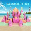 500g/bag Kinetic Dynamic Educational Sand clay Amazing DIY Indoor Magic Playing Sand Children Toys Mars Space Sand eight colours