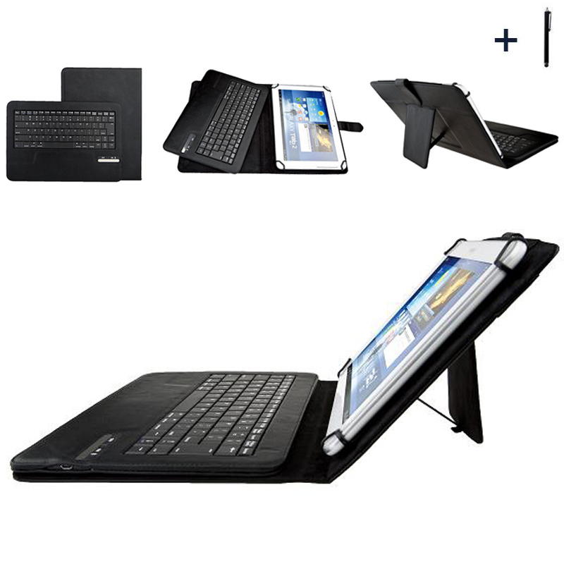 9'' 10''Tablet Universal Wireless Bluetooth Keyboard Case For ASUS LG Acer HTC 9'' 10'' Tablet Flip Leather Stand Cover+Stylus ios windows android universal bluetooth keyboard abs leather case for 7 8 9 9 7 10 1 tablet pc case support russia keyboard