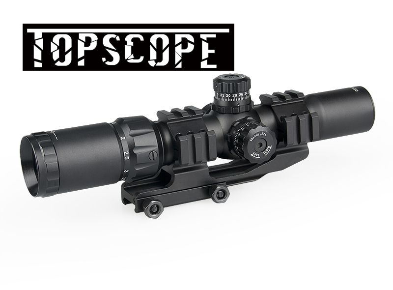 Tactical 1.5-4x30 Tri-illuminated (Red/Green/Blue) Mil-dot Reticle Rifle Scope riflescope Sight free shipping
