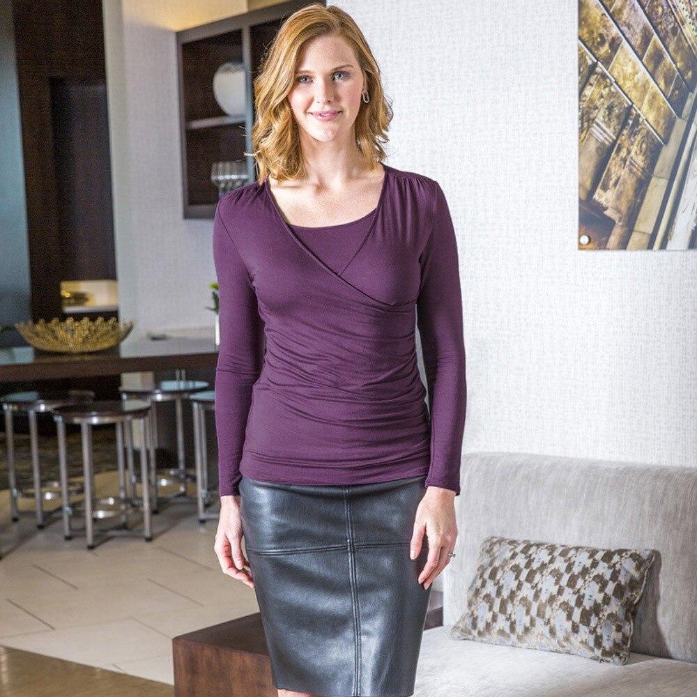 2019 Neue Heiße Frauen Mom Täglichen Mode Bequem Schwangere Pflege Baby Mutterschaft Langarm Solid Tops Bluse Kleidung