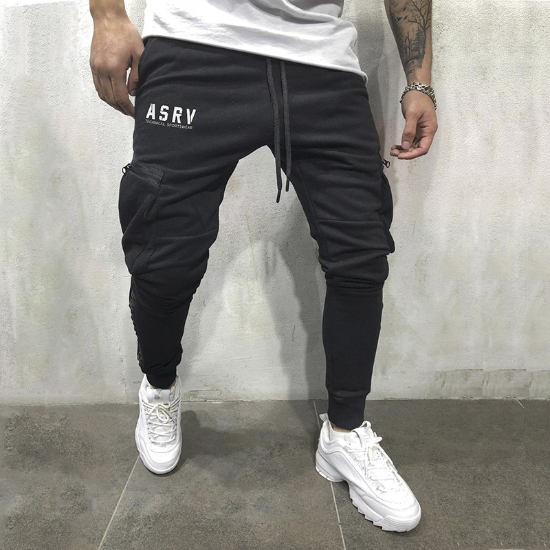 Autumn Winter Men's Cargo Multi-pocketcargo Pants Men Joggers Casual Trousers Cotton Bodybuilding Sweatpants 2019New Streetwar