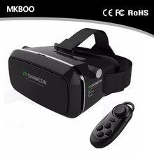 VR Glasses Virtual Reality Glasses Helmet 3D Glasses For 4.0-6.0 inch smartphone + Smart Bluetooth Wireless Remote Control