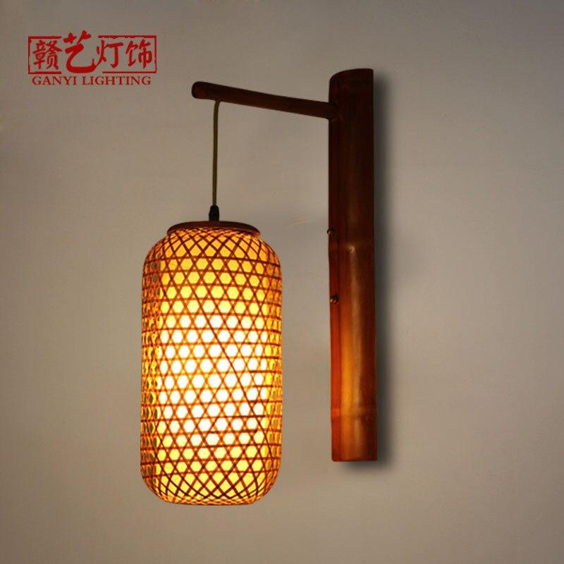 wall lamp ancient city inn retro decorative lantern Chinese restaurant, tea house, restaurant aisle corridor light