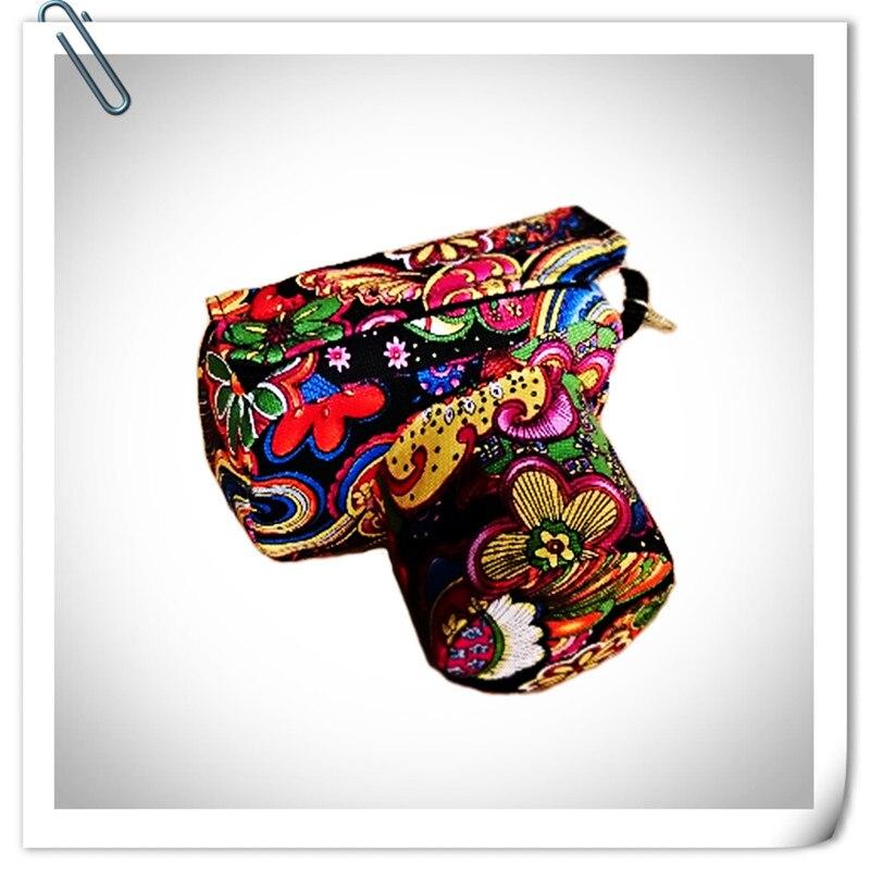 Flower Pattern National Style Unique Handcrafted Slr Dslr Case Camera Shoulder Bag Free Shipping ...