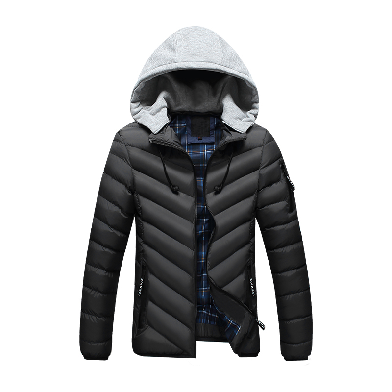 New Men Winter Jacket Fashion Brand Clothing Cotton Padded Down Parka Male Thick Warm Comfortable Outerwear Coat Hood Detachable 2016 new fashion men winter down jacket men parka coat thick warm cotton padded jacket mens winter coat jacket parka men 98