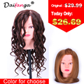 Hot Sale Training Mannequin Head With Hair 20 Inch Natural Brown Cosmetology Hairdressing Doll Manikin Heads Hairstyles