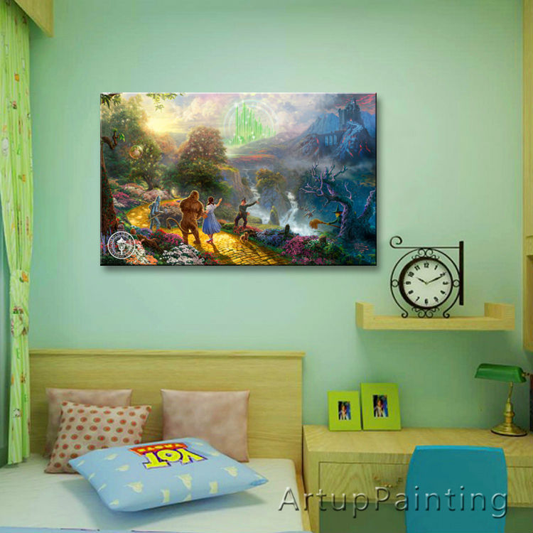 Thomas Kinkade Oil Paintings HE WONDERFUL WIZARD OF OZ Art Decor Painting Print Giclee Art Print On Canvas