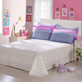 Оптовая продажа-Мода цвет постельные принадлежности простыни королева король размер 1 шт. хлопок домашний текстиль
