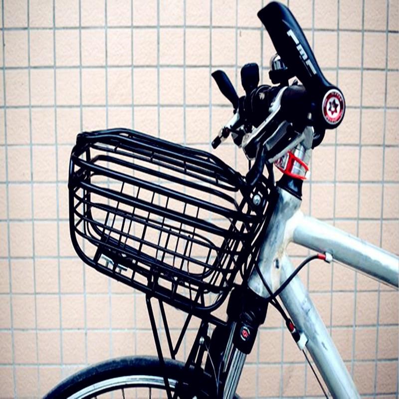 Free-fly Folding Rear Bike Basket Wire Mesh Fold-Up Detchable Front Bag Rear Hanging Bike Basket Bicycle Bag Cargo Rack for Mountain Bike Accessories Bike Frame Basket 1 Pack