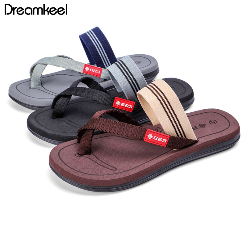 Flip Flops Men Shoes Fashion Slippers Couple Sandals Solid Plus Size Men's Shoes Outside Slippers Men Confortable Slippers Y(China)