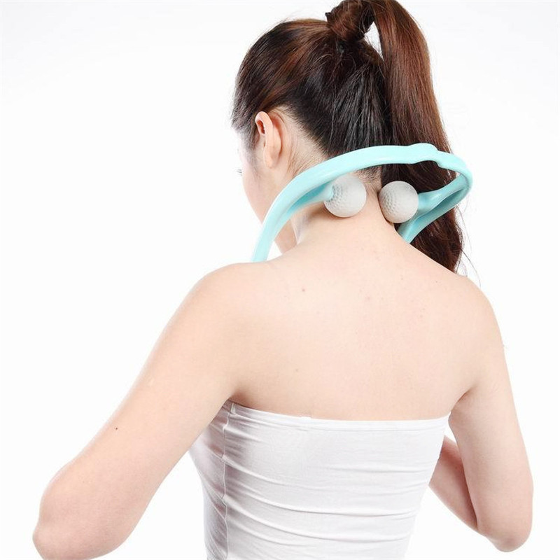 handled neck cervical traction pain relief therapy massage roller for slimming body shaper reliever weight loss massager collar high end health care neck cervical traction ems therapy massage collar infrared heating magnet vibration massager pain relief