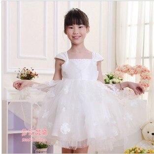 981ff5d26 2018 الصيف بنات جديدة الأميرة اللباس الاطفال الزفاف الرسمي اللباس ازياء حزب  عالية الجودة الأبيض ل 3-12 سنوات الفتيات