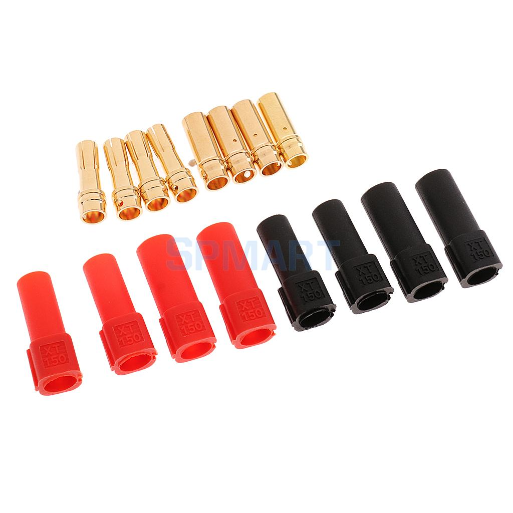 Parts & Accessories Provided 2pairs Rc Drone Lipo Battery Adapter Connectors Xt150 Male Female Diy Banana Plugs A Plastic Case Is Compartmentalized For Safe Storage