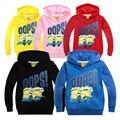 2016 Nueva ropa de Los Niños Minions Hoodies Sudaderas Niños/Niñas Terry Algodón Camisetas Y Tops Niños prendas de Vestir Exteriores de Los Niños del suéter de manga larga