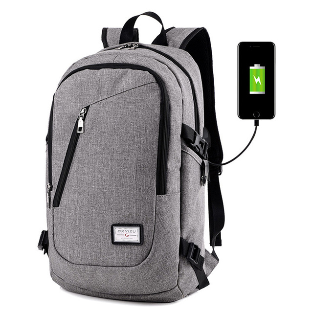 631c4c42d43 ZHIERNA Smart Backpack With a USB jack shoulder Bag Men s 14 Inch Computer  Bag Girl Students Multi-purpose Schoolbag Nylon Pack