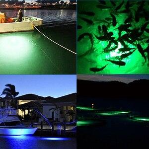 Image 5 - 30 W di Pesce Attirare Luce Impermeabile HA CONDOTTO LA Luce Subacquea di Pesca di Notte di Illuminazione per 12 V Barca Nave