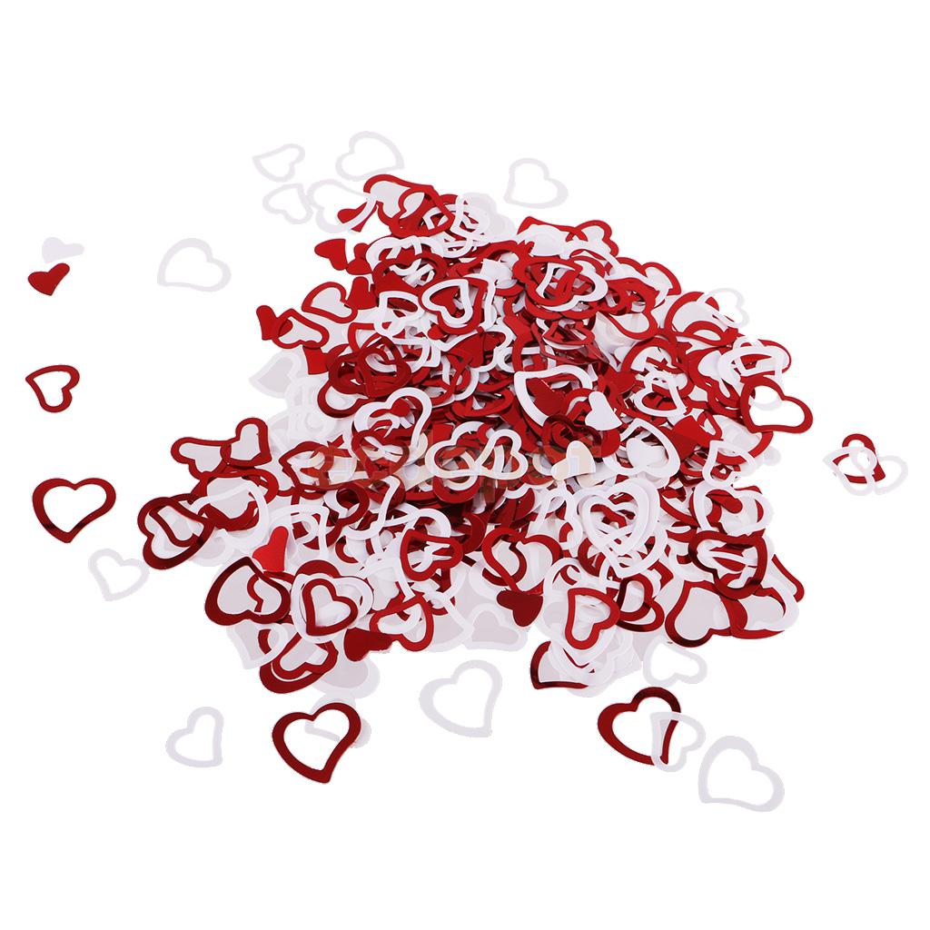 Romantic Heart Style Table Confetti Sprinkles Foil Scatters Wedding Birthday Anniversary Party Decorations