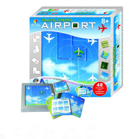Traffic Control Airport Maze 48 Slide Puzzle Games Toy Educational Challenge From Primary School To Master Montessori Hobby Gift