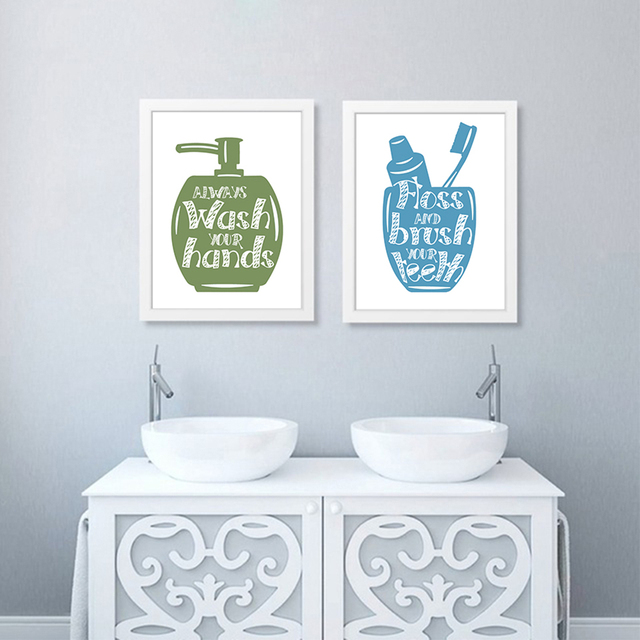 Bathroom Supplies Related Painting Wall Art