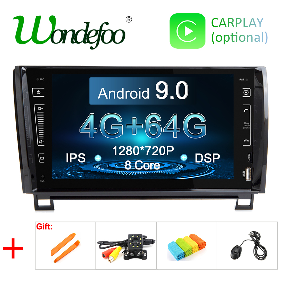 9 IPS SCREEN Android 9 0 4G 64G 2 DIN CAR GPS For TOYOTA Sequoia Tundra