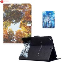 Cute Cartoon Monkey Cat Tree Wallet PU Leather Magnetic Stand Cover Case For Samsung Galaxy Tab