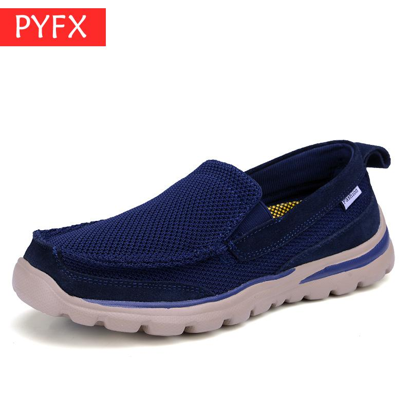 2019 summer luxury blue men 39 s casual breathable mesh shoes fitness walking outdoor soft bottom Fashion Sneakers quick dry shoes in Men 39 s Casual Shoes from Shoes