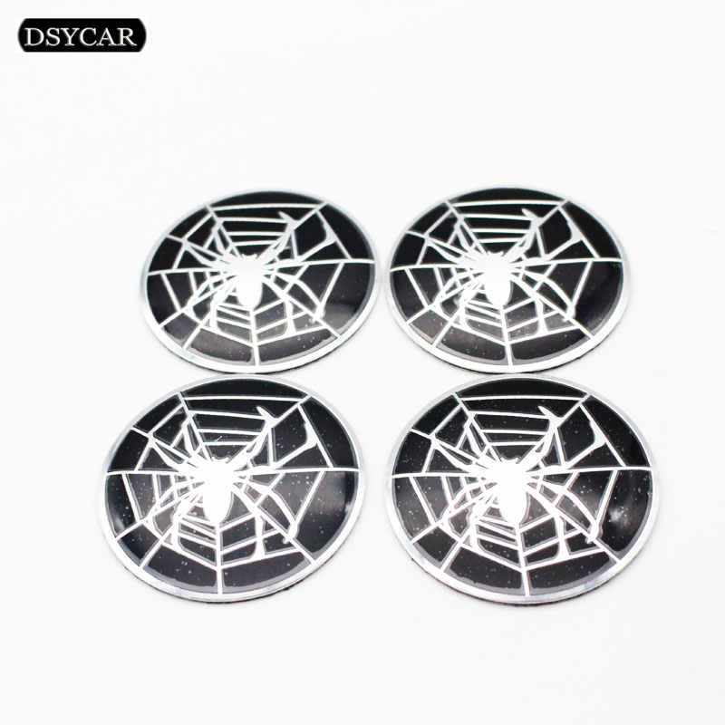 4 stks/set 58mm Spider Auto Stuurwiel Badge Center Hub Sticker voor Hub Cap Emblem Auto Styling