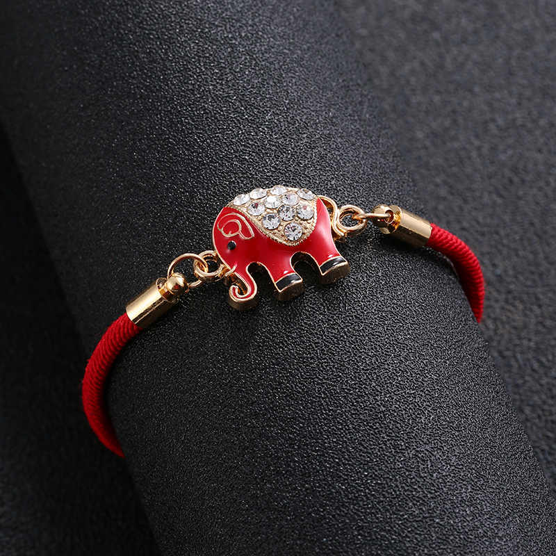 Shiny LUCKY ELEPHANT 9mm Italian Charm Fits Classic Bracelet Charms Link