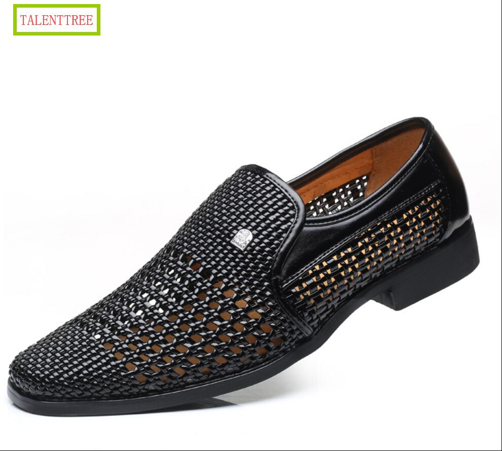 Classics Gladiator Men Oxfords leather Sandals Casual Breathable Cut-Outs Male Shoes Loafers Moccasins Italian Flats Shoes for
