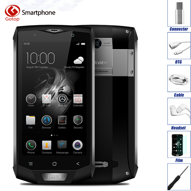 Оригинал Blackview BV8000 Pro Водонепроницаемый смартфон Android 7.0 MTK6757V Octa Core сотовый телефон 6 ГБ ОЗУ 64 ГБ ROM 4 г мобильного телефона