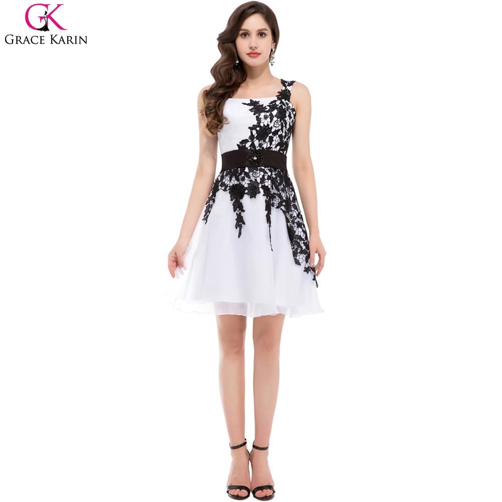 c4794c7aa Vestidos de fiesta en blanco y negro cortos – Vestidos hermosos y de ...