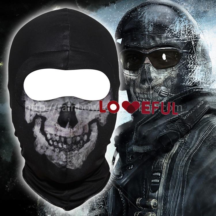 Call Of Duty 10 Cod Ghosts Logan Balaclava Ski Skull Hood: New Black Ghost Simon Riley Skull Balaclava Ski Hood