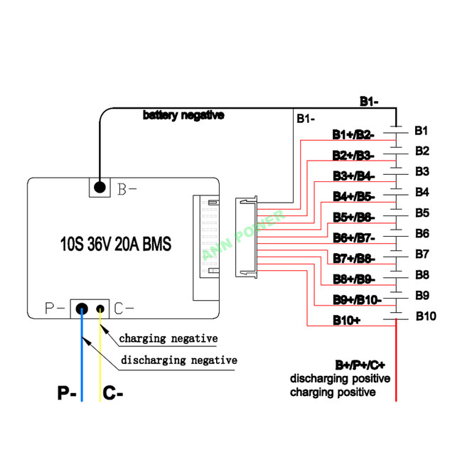 online shop 10s 36v 42v 20a lithium ion battery bms for 36v 10ah e rh m aliexpress com Xingyue Wiring Diagram Verucci Wiring Diagram